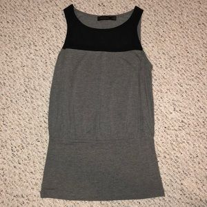 gray tank with black mesh